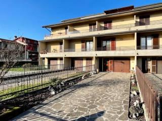Foto - Villa a schiera via Serenissima, Centro, Caravaggio
