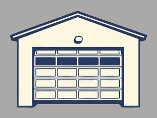 garage with paned door vector id181563457